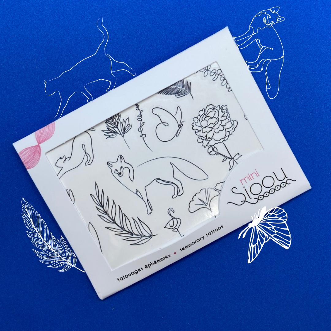 Mini Line tatouages éphémères Sioou