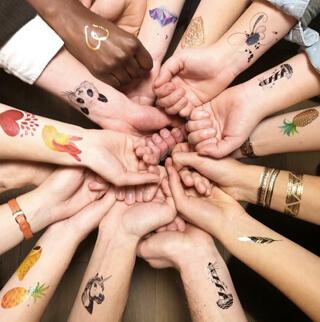 Des tatouages éphémères Sioou pour vos événements