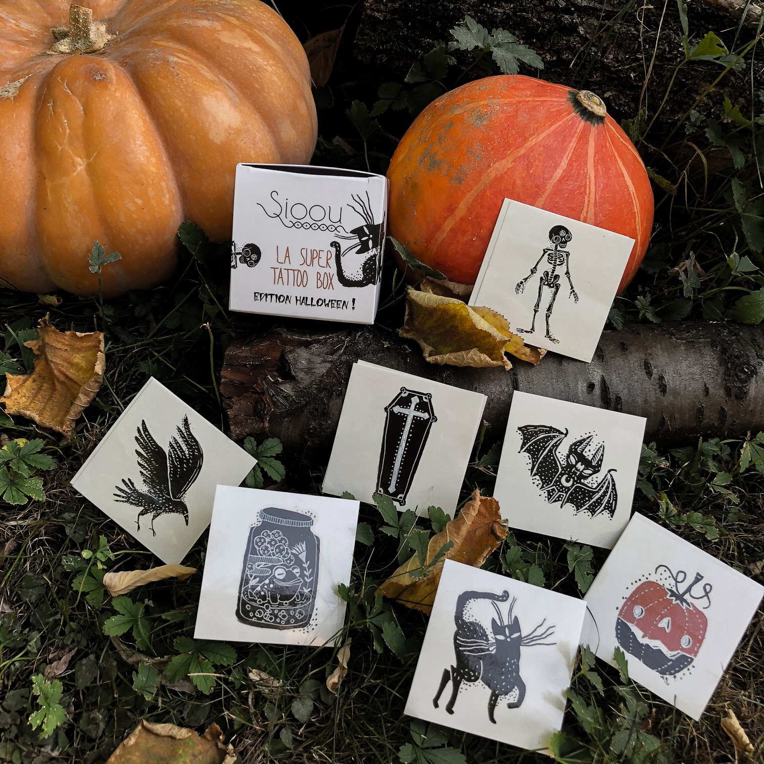 Tattoo box Halloween : tatouages éphémères Sioou en édition limitée