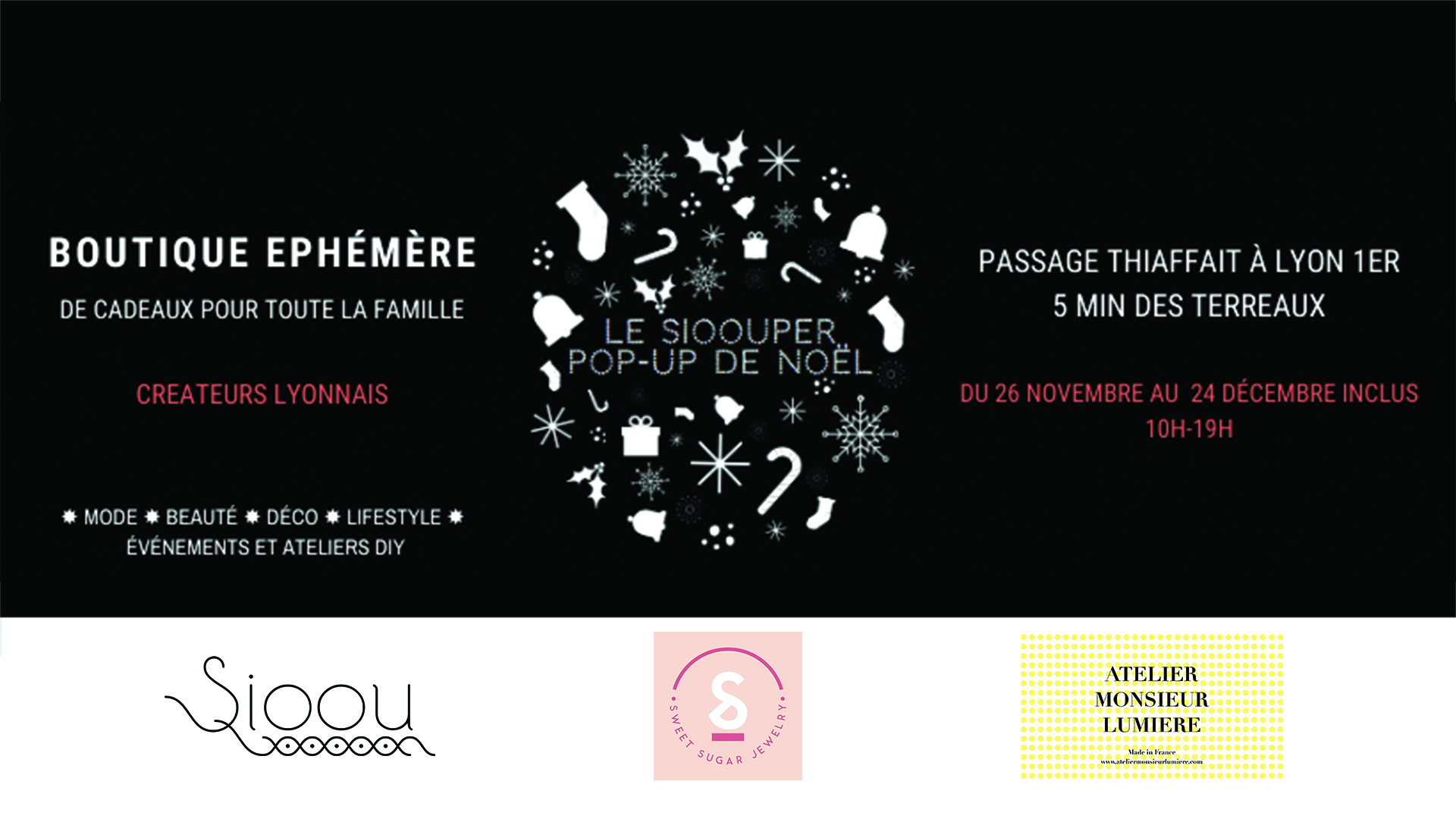 Sioouper pop-up store de Noel