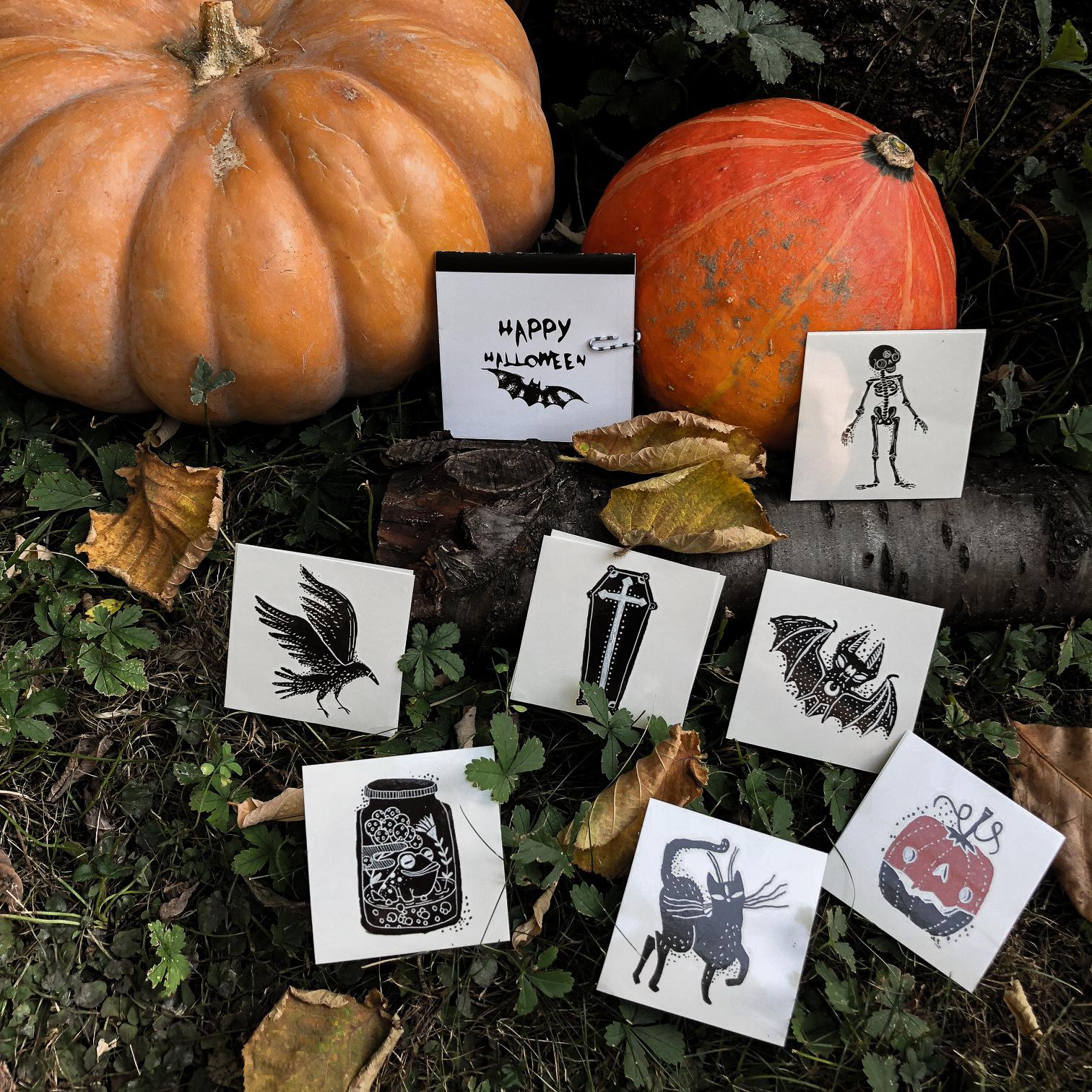 enveloppe de tatouages surprises Halloween Sioou