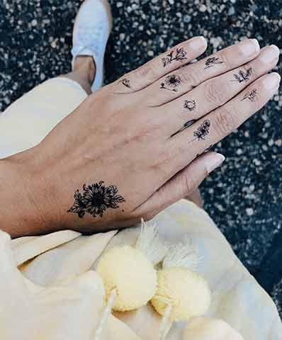 tatouages Sioou Mini Floral par Silowane