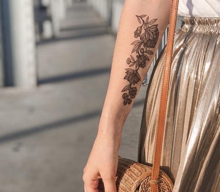 parure faux tatouage noir sioou