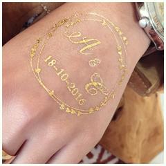 tatouage personnalisé doré mariage
