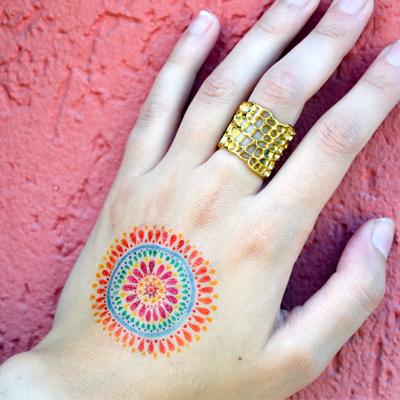 tatouage temporaire personnalisé couleur