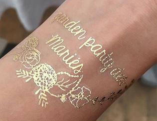tatouage personnalisé mariage doré