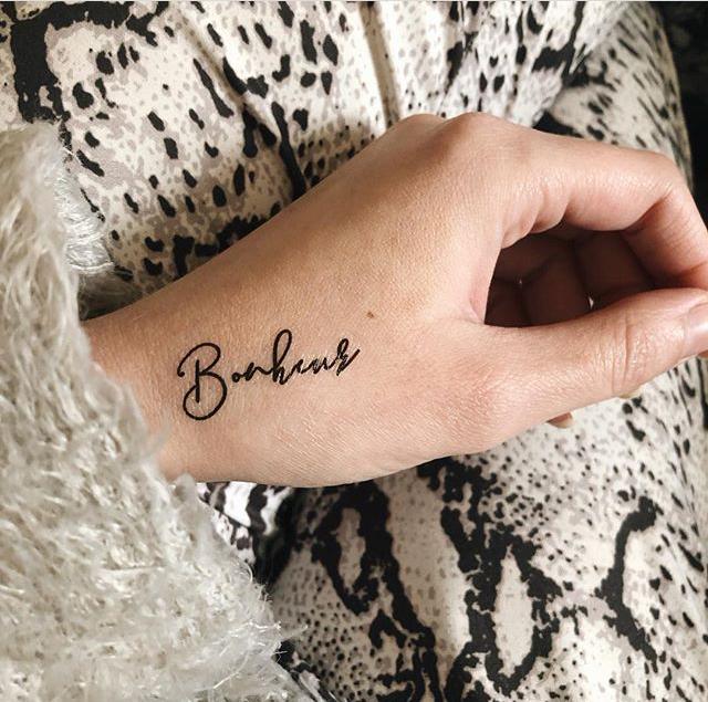 tattoo éphémère Bonheur