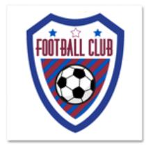 tatouage éphémère personnalisé d'un club de foot amateur