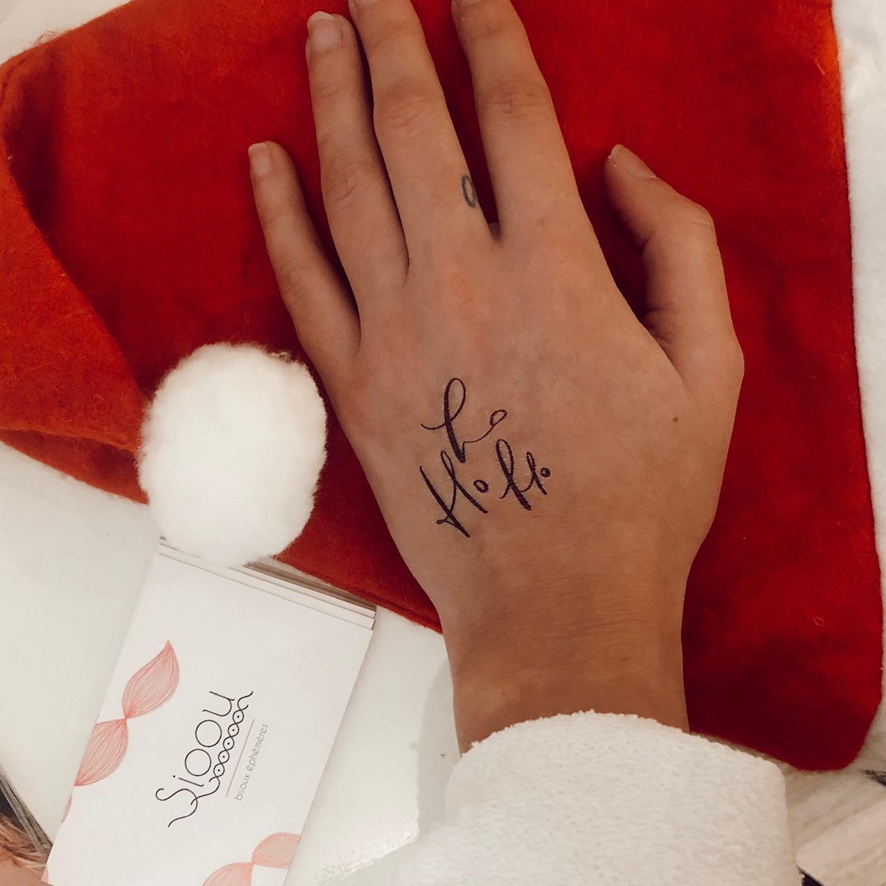 tattoo ephemere pour noel par Sioou