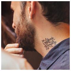 Exemple de tatouage éphémère personnalisé par Sioou