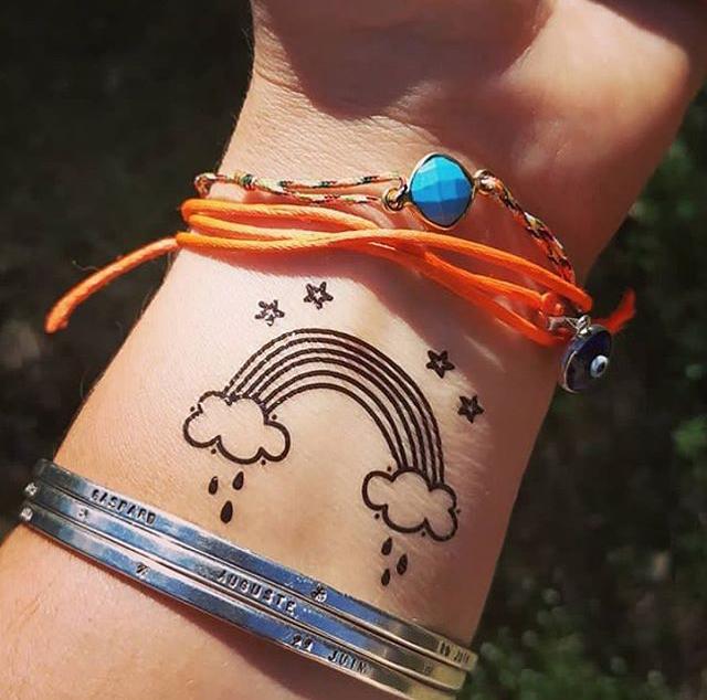 tatouage Arc en ciel