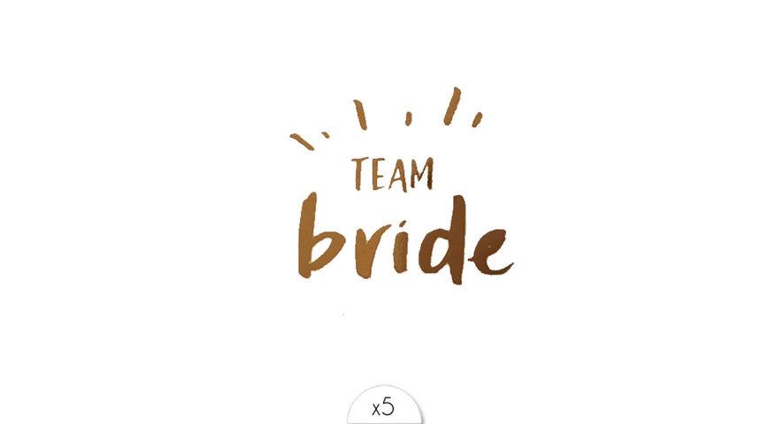 tatouage éphémère Team Bride EVJF